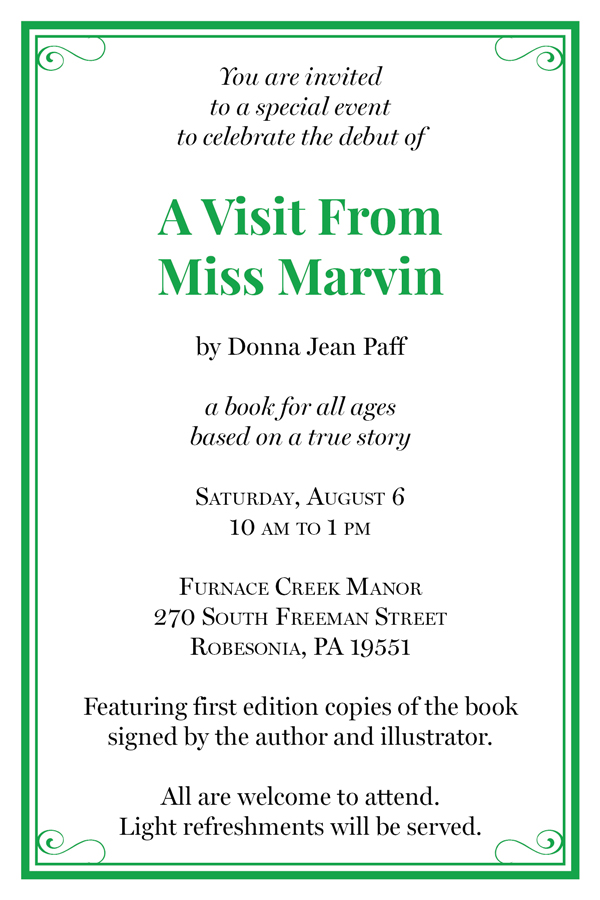 Miss Marvin Debut Invitation